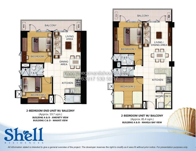 Shell residences condos for sale in mall of asia complex for 4 unit condo plans