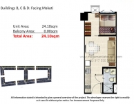 1 Bedroom Unit Floor Plan