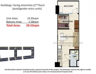 1 Bedroom - Pool or Garden Unit Floor Plan